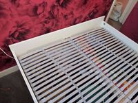 Ikea Brimnes double bed frame and Sultan Laxeby slats