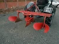 Ferguson tractor three point linkage drill plough ridger with original badge