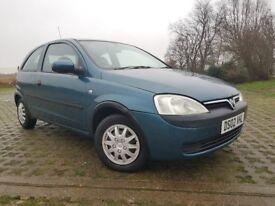 2002 VAUXHALL CORSA 1.2 PETROL MANUAL, IDEAL CAR FOR NEW DRIVERS.