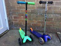 Mini-micro scooters x2 - good condition