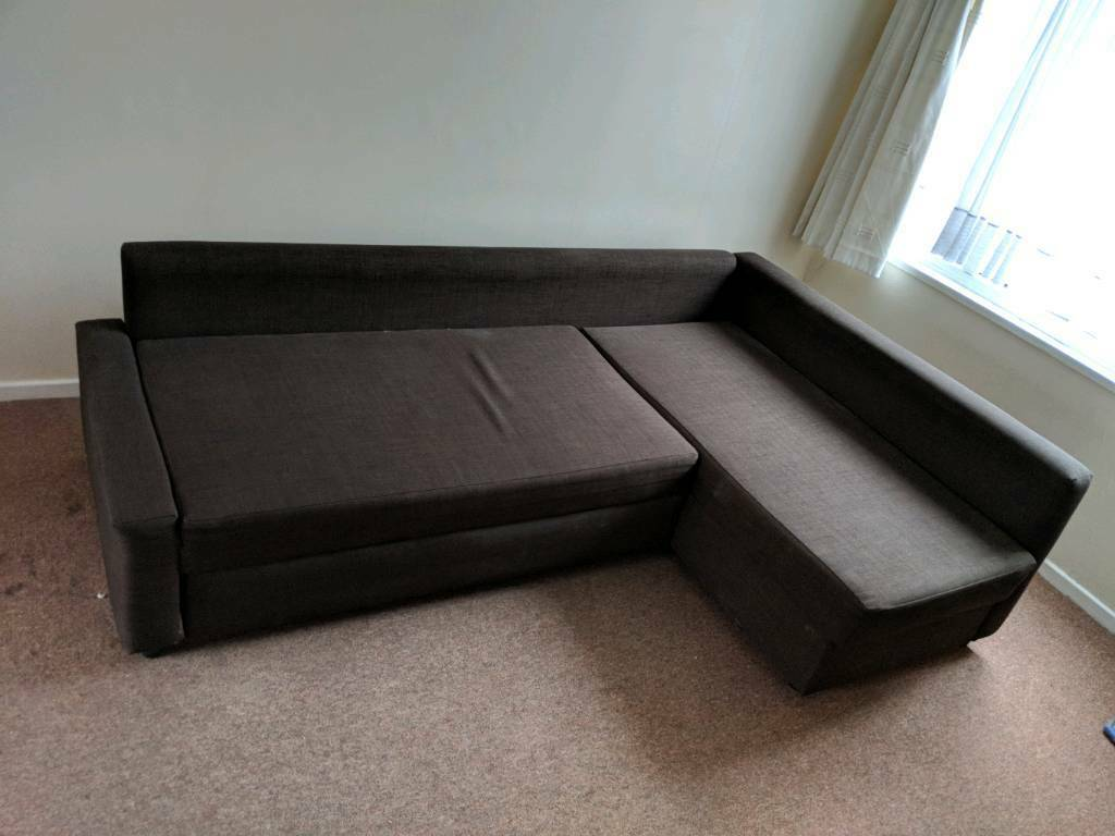 Chocolate Brown Sofabed Ikea Friheten Corner L Shaped Sectional Sofa Bed Free Delivery