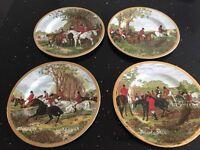 J . f Herring famous hunting scene china plates