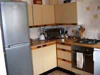 Kitchen Units, worktop and appliances. Old, but useable, not bad condition