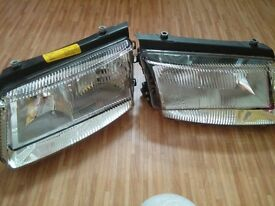 a pair of new headlamps