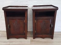 Pair Of 1930's Bedside Cabinets (DELIVERY AVAILABLE)