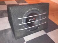 "MB Quart 10"" Subwoofer & FLI 800W Amplifier"