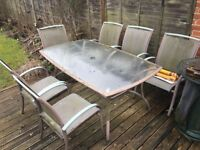 Free garden table with 6 chairs