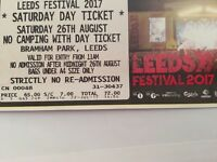 Leeds festival Saturday day tickets