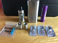 Kangertech TopBox Mini Kit Platinum - Stainless Steel Topbox Mini, PLUS EXTRAS