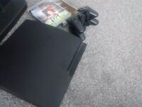 Playstation 3 slim 320gb black with fifa 16 and black ops 2 £85
