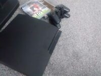 Playstation 3 slim 320gb black with fifa 16 and black ops 2