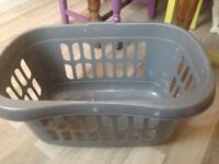 Grey wash basket