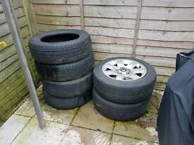 Free drift wheels and tyres