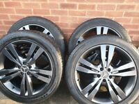 """Genuine 8.5Jx20 H2 ET60, 20"""" Mercedes wheels and tyres"""