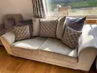 Scs 3 piece sofa suite & footstool.
