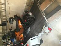 2013 can am Spyder RSS SE5 with trailer