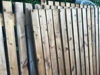 Fence and fence posts