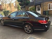Chauffeur with Mercedes e class