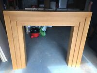 Oak effect fire surround brand new