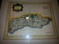 Robert c morden sussex 1695 map