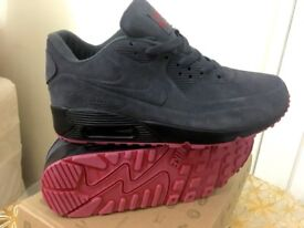 f1afa480500 ... new arrivals nike air max 90 hyperfuse suede grey red black vt all  sizes inc delivery