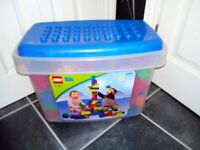Big box of Lego Quatro (like Duplo, only bigger) for sale  Ashton-under-Lyne, Manchester