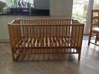 John Lewis Baby's Cot in good clean condition, with 3 height positions, also be used as a small bed