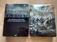 Band of Brothers and Pacific DVD's
