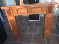 Carved Solid Wood Fireplace Surround / Mantelpiece