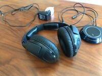 Wireless Sennheiser over-ear headphones