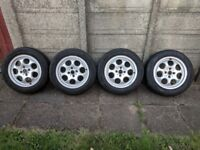 Mini Cooper Alloy wheels 15inch with tyres