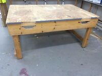 Large Heavy Duty Wooden Woodworking Workbench - 3 Available
