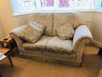 Duresta sprung 2 seater sofa with stool