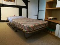 Fold-up Rollaway Guest Bed - Including Mattress - Good Condition