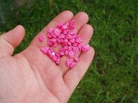 Pink gravel for aquarium fish tank.