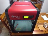 Da vinchi xyz pro 1.0 3d printer with spare extruder included