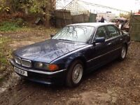 BREAKING BMW E38 735I AUTO. V8, BLUE, for parts