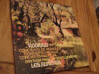 Vinyl - 33rpm Rodrigo,Concierto various (see list in main text) Los Romeros 1968.