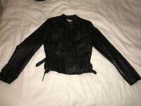 'Next' 100% Leather Jacket Size 12