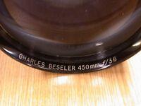 Excellent quality CHARLES BESELER Lens 450mm f 3.6
