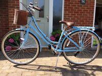 Kingston Hampton 16 Inch Frame Hybrid Bike Blue - Ladies'
