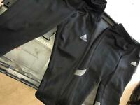 2x PAIRS OF ADIDAS BOYS TRACKSUIT BOTTOMS AGE 2-3 years 10/10 condition