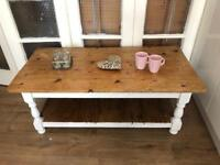 Chunky coffee table Free Delivery Ldn Solid wood rustic