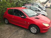 2004 Peugeot 206, 10 months mot, runs and drives well £299 no offers