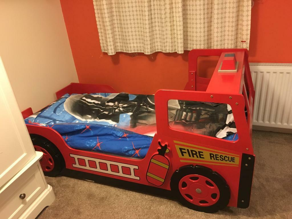 Single kids Fire Engine Bed
