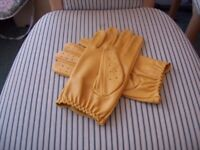 Prime cenuine soft cow nappa leather mens driving gloves {NEW}