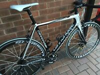Fantastic Cannondale SuperSix with matching Spinergy Deep Rim Section Carbon Wheels