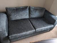 Brand new grey fabric couch