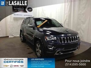 2014 JEEP GRAND CHEROKEE 4DR 4WD OVERLAND,DIESEL,NAV,CUIR ECT