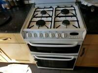 Canon freestanding dual fuel double oven cooker